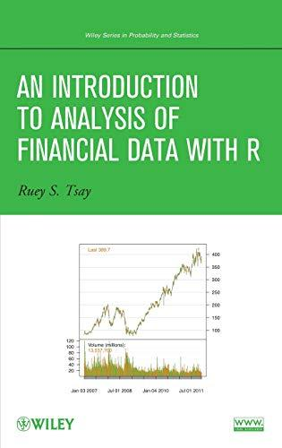 An Introduction to Analysis of Financial Data with R, Hardcover, 1 Edition by Tsay, Ruey S.