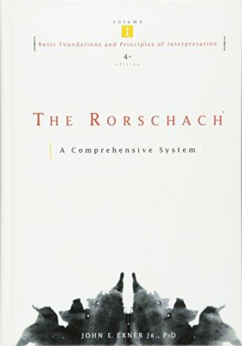 The Rorschach, Basic Foundations and Principles of Interpretation Volume 1, Hardcover, 4 Edition by Exner Jr., John E.