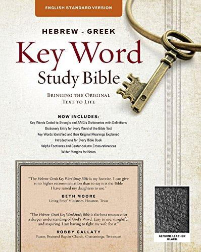 The Hebrew-Greek Key Word Study Bible: ESV Edition, Black Genuine Leather (Key Word Study Bibles), Leather Bound, Multilingual Edition by Zodhiates, Dr. Spiros