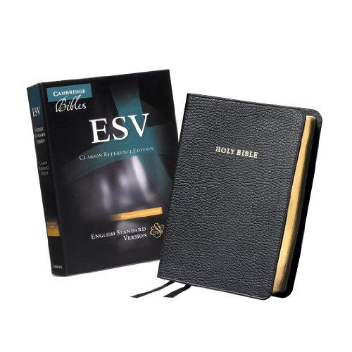 ESV Clarion Reference Bible, Black Calf Split Leather, ES484:X, Leather Bound, Lea Edition by Baker Publishing Group
