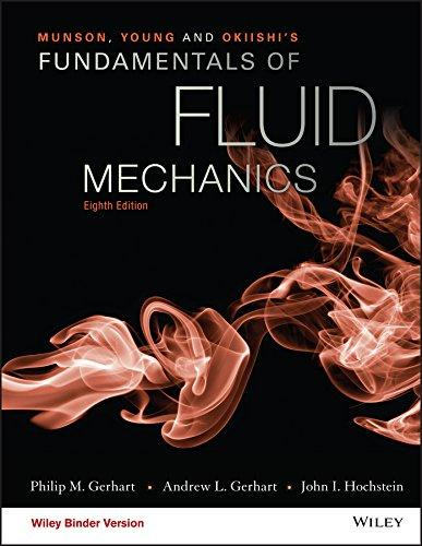Munson, Young and Okiishi's Fundamentals of Fluid Mechanics, Ring-bound, 8 Edition by Gerhart, Philip M.