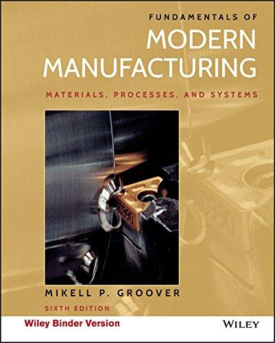 Fundamentals of Modern Manufacturing: Materials, Processes, and Systems, Ring-bound, 6 Edition by Groover, Mikell P.