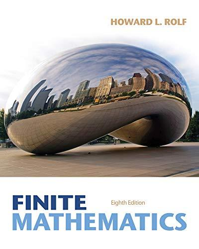 Finite Mathematics, Hardcover, 8 Edition by Rolf, Howard L.