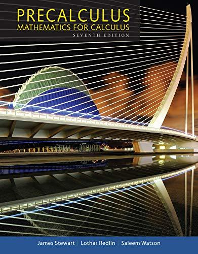 Precalculus: Mathematics for Calculus (Standalone Book), Hardcover, 7 Edition by Stewart, James