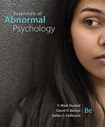 Essentials of Abnormal Psychology, Hardcover, 8 Edition by Durand, V. Mark