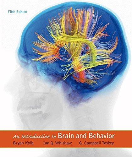 An Introduction to Brain and Behavior, Hardcover, Fifth Edition by Kolb, Bryan
