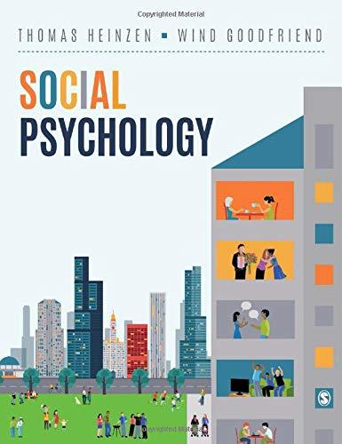 Social Psychology, Hardcover, 1 Edition by Heinzen, Thomas E.
