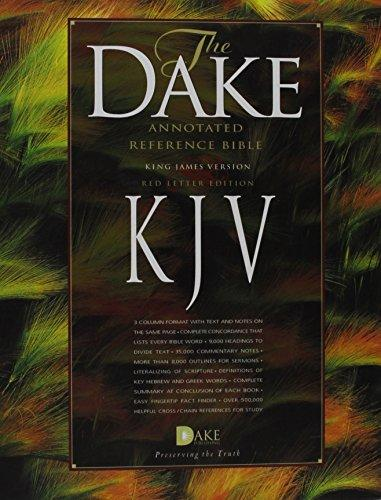 Dake Annotated Reference Bible-KJV, Bonded Leather by Dake, Finis J