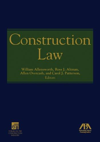 Construction Law, Hardcover by Allensworth, William Russell