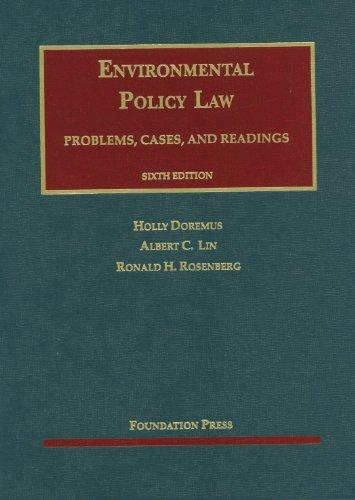 Environmental Policy Law, 6th (University Casebook Series), Hardcover, 6 Edition by Doremus, Holly