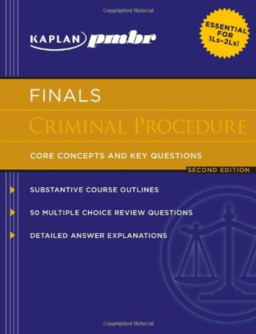 Kaplan PMBR FINALS: Criminal Procedure: Core Concepts and Key Questions, Paperback, 2 Edition by Kaplan PMBR (Used)