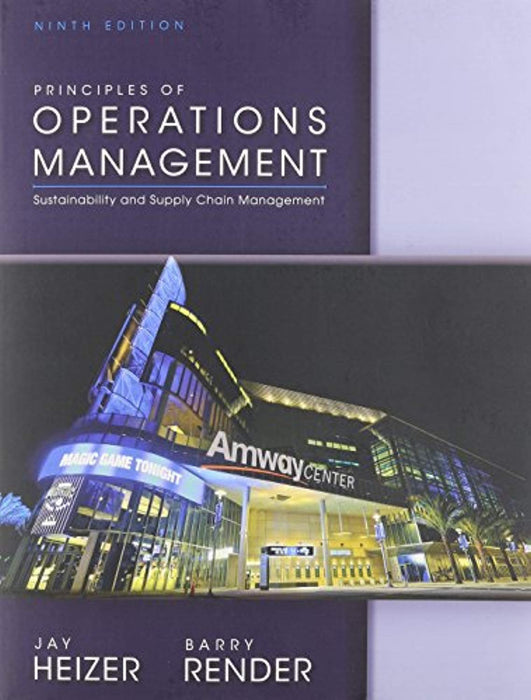 Principles of Operations Management and Student CD, Paperback, 9th Edition by Render, Barry