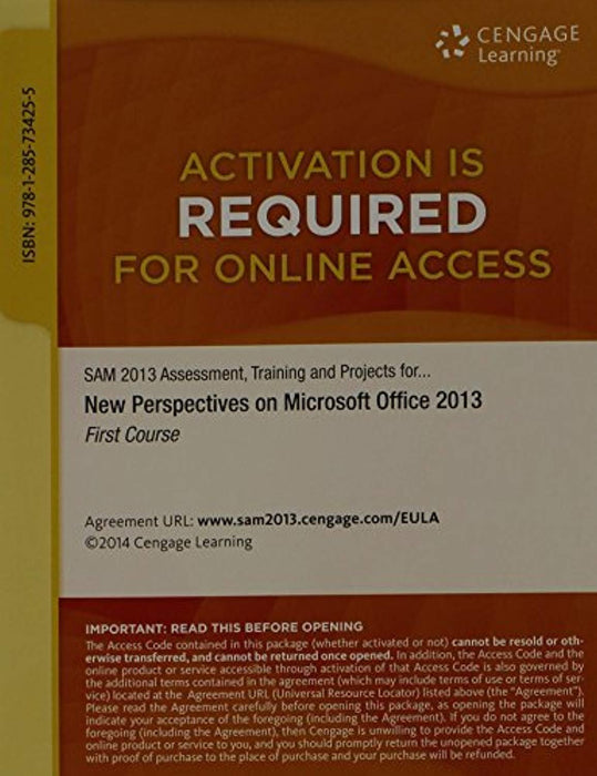 SAM 2013 Assessment, Training, and Projects with MindTap Reader, 1 term (6 months) Printed Access Card for Shaffer/Carey/Parsons/Oja/Finnegan's New Perspectives on Microsoft Office 2013, First Course, Printed Access Code, 1 Edition by Shaffer, Ann