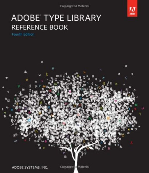 Adobe Type Library Reference Book, Paperback, 4 Edition by Adobe Systems (Used)