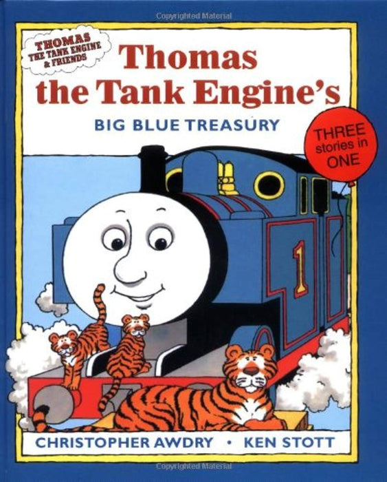 Thomas the Tank Engine's Big Blue Treasury (Thomas the Tank Engines & Friends Series), Hardcover by Awdry, Christopher (Used)