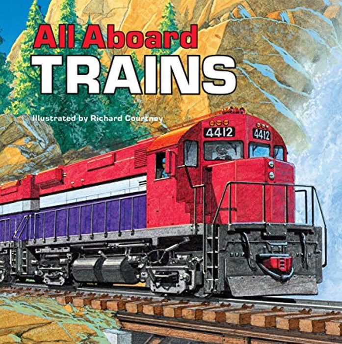 All Aboard Trains (All Aboard 8x8s), Paperback, Illustrated Edition by Mary Harding (Used)