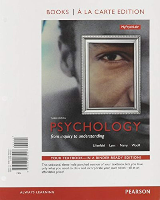 Psychology: From Inquiry to Understanding, Books a la Carte Edition plus REVEL -- Access Card Package (3rd Edition), Loose Leaf, 3 Edition by Lilienfeld, Scott O.