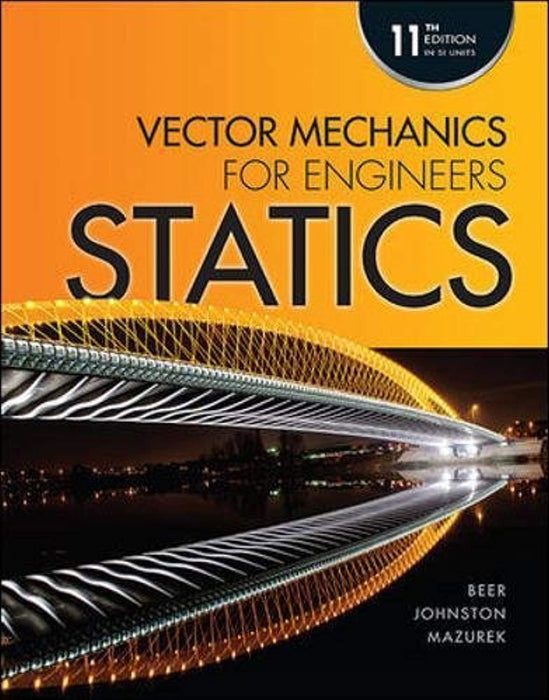 Vector Mechanics for Engineers Statics(SI), Paperback, 5th Edition by Beer, Ferdinand Pierre; Johnston, E. Russell (Used)