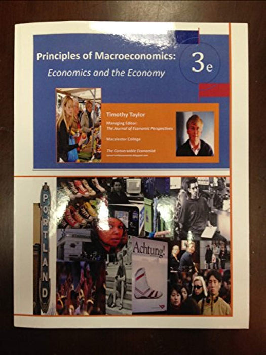 PRIN.OF MACROECONOMICS (LOOSELEAF), Paperback, 3rd Edition by Timothy Taylor