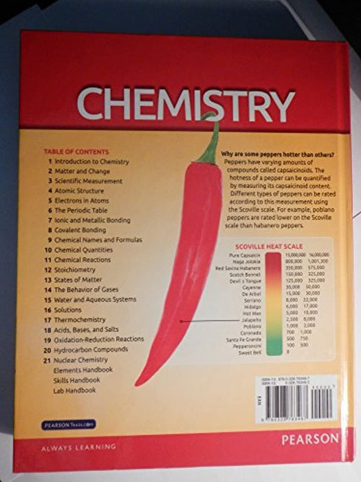 Pearson Texas Chemistry 2015 Edition, Hardcover, 2015 edition by Wilbraham Staley Matta Waterman