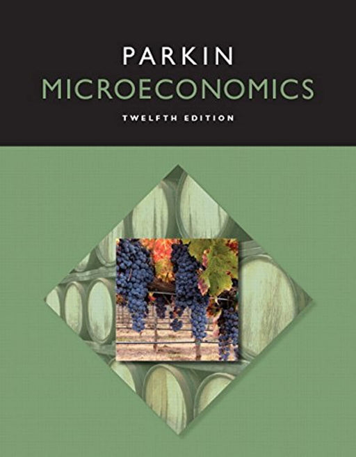 Microeconomics (12th Edition) (Pearson Series in Economics), Paperback, 12 Edition by Parkin, Michael (Used)