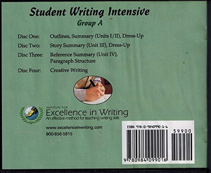Student Writing Intensive Group A DVD Course, DVD-ROM, 2nd Edition by Andrew Pudewa (Used)