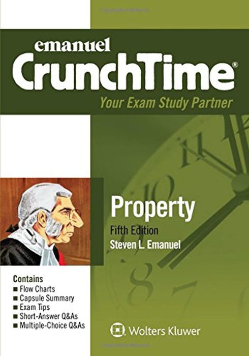 Emanuel CrunchTime for Property, Paperback, 5 Edition by Emanuel, Steven L. (Used)