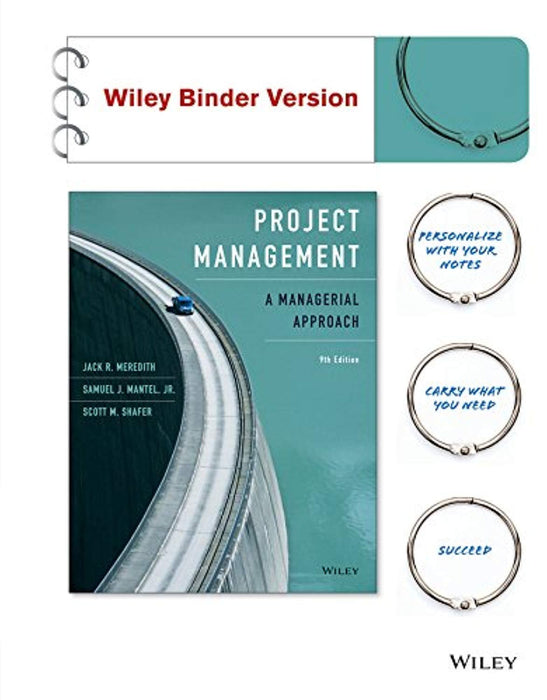 Project Management, Binder Ready Version: A Managerial Approach, Paperback, 9 Edition by Meredith, Jack R. (Used)