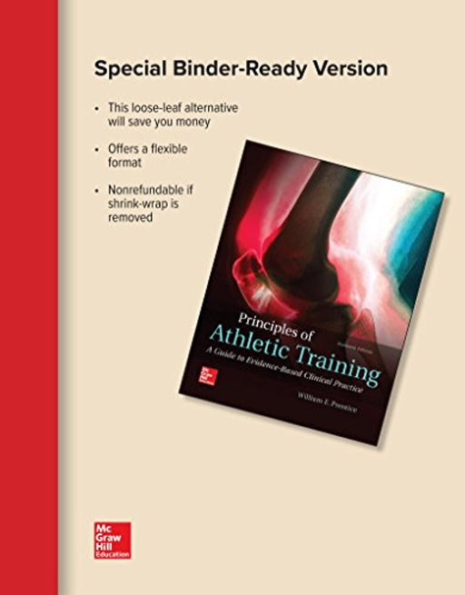 Looseleaf for Principles of Athletic Training: A Guide to Evidence-Based Clinical Practice, Paperback, 16 Edition by Prentice, William