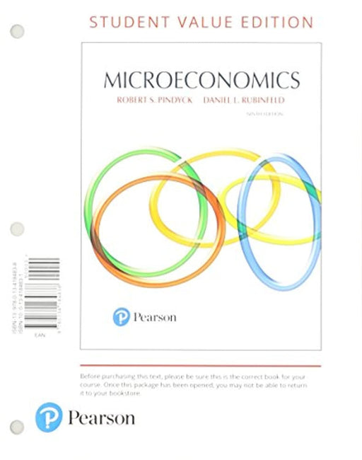 Microeconomics, Student Value Edition Plus MyLab Economics with Pearson eText -- Access Card Package (Pearson Series in Economics), Loose Leaf, 9 Edition by Pindyck, Robert (Used)