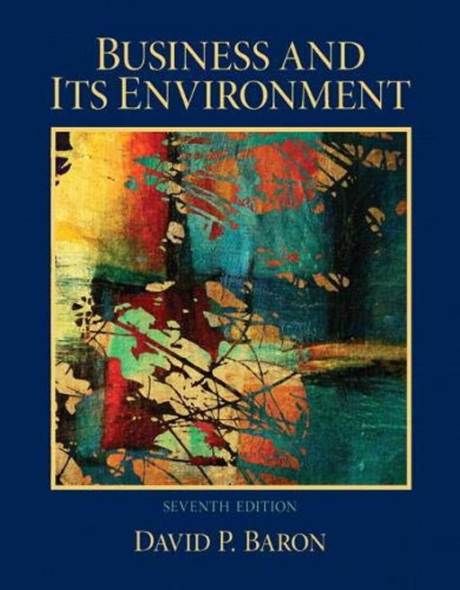 Business and Its Environment, Hardcover, 7 Edition by Baron, David