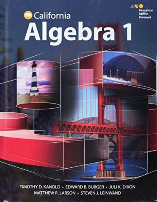 HMH Algebra 1 California: Student Edition 2015, Hardcover, 1 Edition by HOUGHTON MIFFLIN HARCOURT (Used)