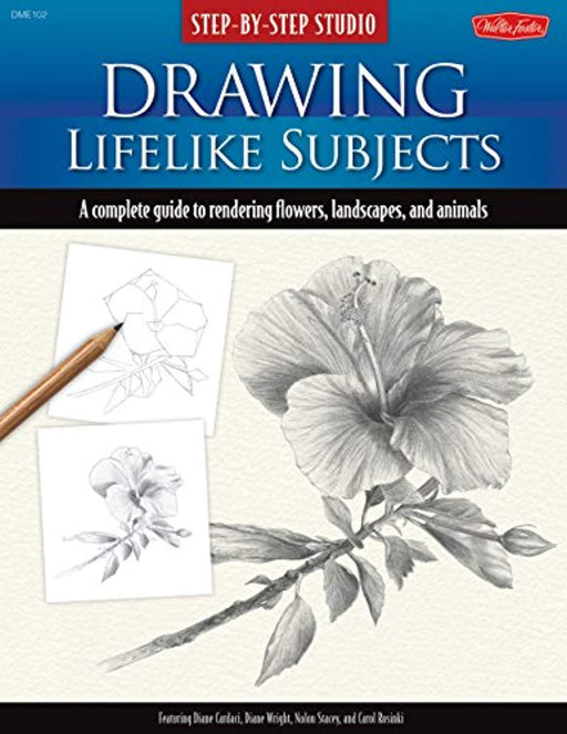 Step-by-Step Studio: Drawing Lifelike Subjects: A complete guide to rendering flowers, landscapes, and animals, Spiral-bound, Spi Edition by Cardaci, Diane (Used)