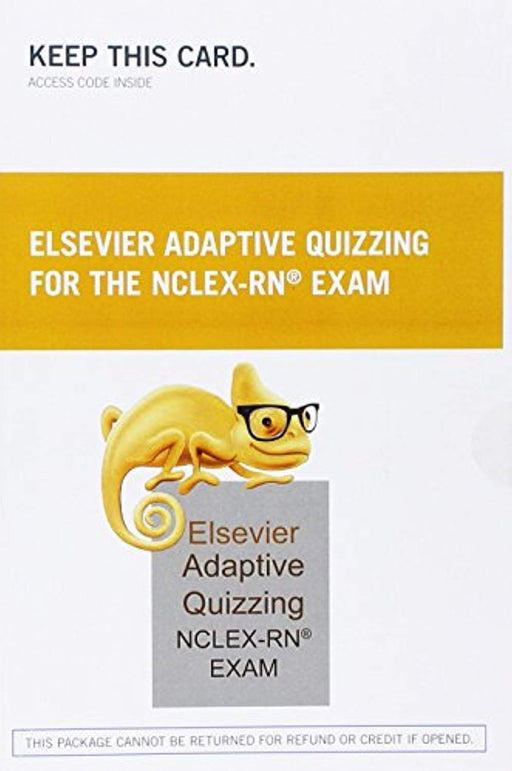 Elsevier Adaptive Quizzing for the NCLEX-RN Exam (36-Month) (Retail Access Card), Printed Access Code, 1 Edition by Elsevier