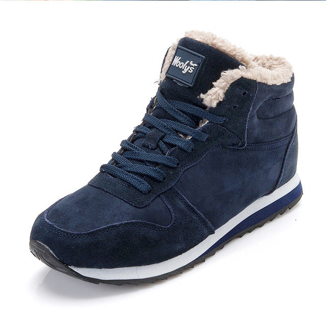 Men Winter Shoes For Men Boots Fashion Winter Sneakers Snow Boots Plus Size Ankle Boots Botines Hombre Black Blue Mans Footwear