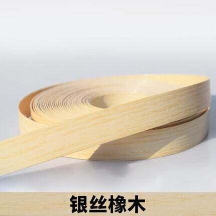 10M Self adhesive Furniture Wood Veneer Decorative Edge Banding PVC for Furniture Cabinet Office Table Wood Surface Edging
