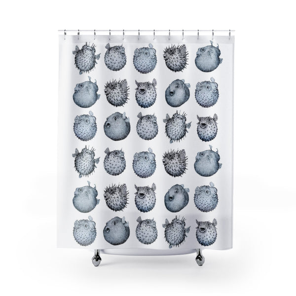 Pufferfish Many Ways Shower Curtain
