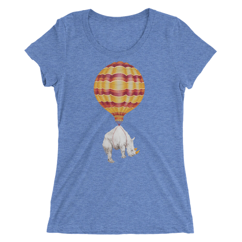 Hot Air Balloon Rhino Ladies' short sleeve t-shirt