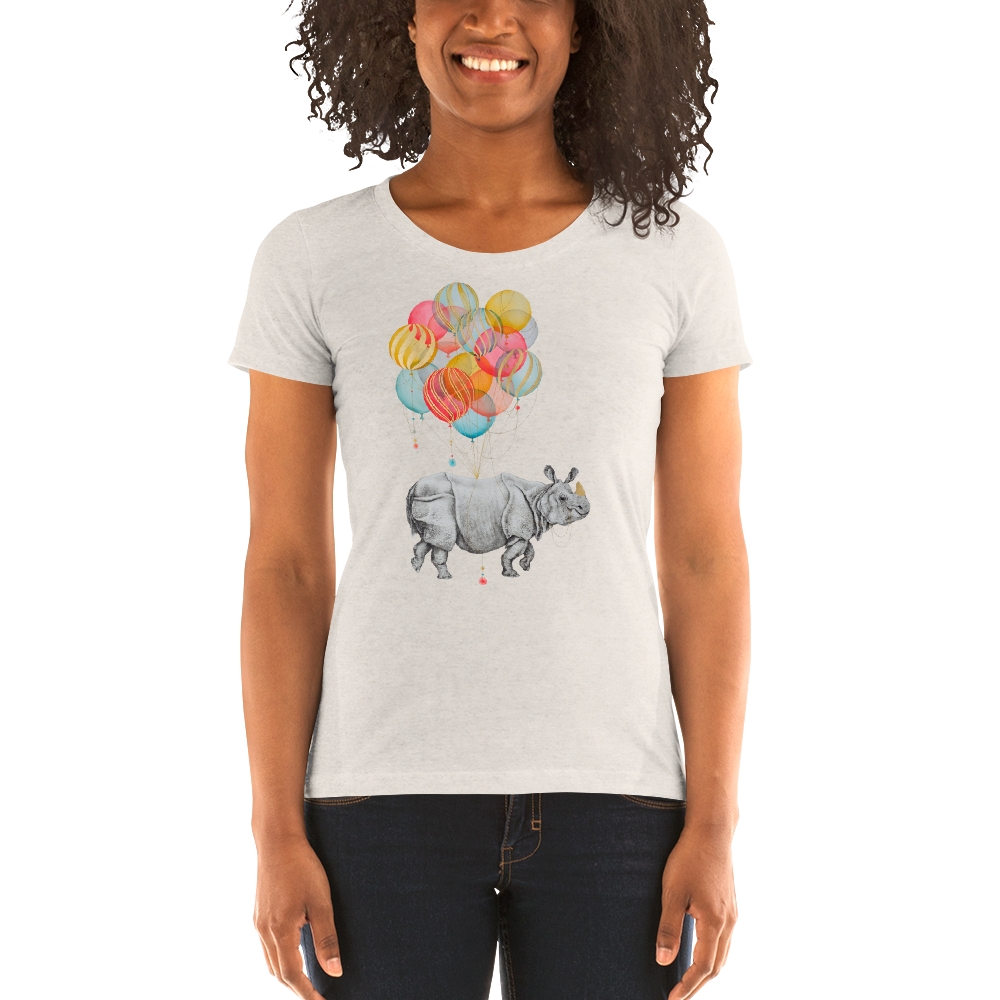 Rhino Balloons Ladies' short sleeve t-shirt