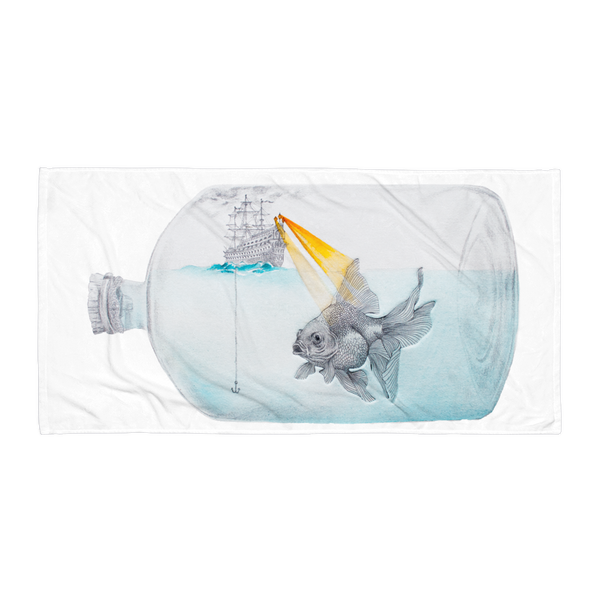Ship in a Bottle Beach Towel