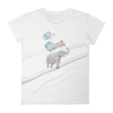 Elephant with Bubbles Women's short sleeve t-shirt