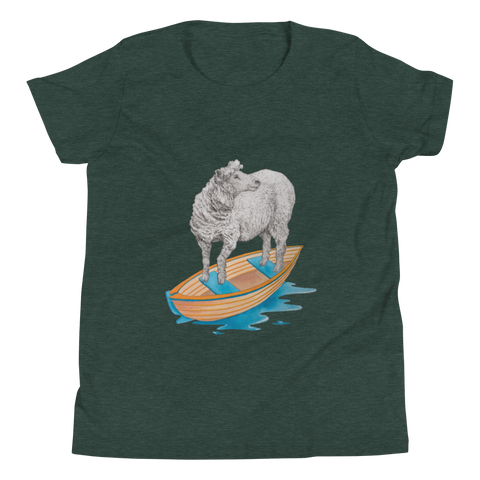 Sheep in a Boat Youth Short Sleeve T-Shirt