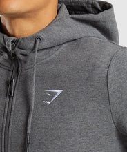 Load image into Gallery viewer, Gymshark 1/2 Zip Hoodie - Charcoal Marl