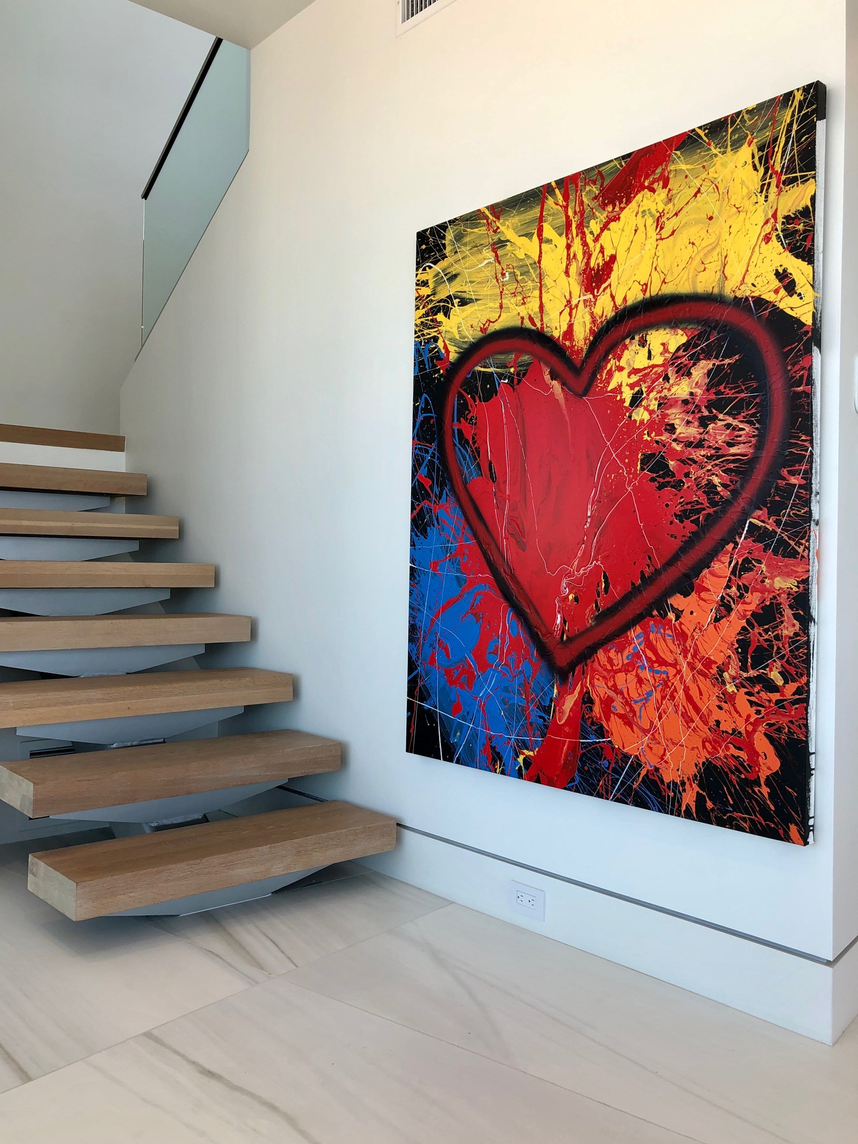 Acrylic Heart Paintings by Hearts of Hope & Love by SALAZAR