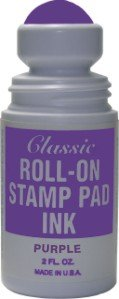Roll-on Stamp Pad Ink Violet