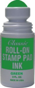 Roll-on Stamp Pad Ink - Green