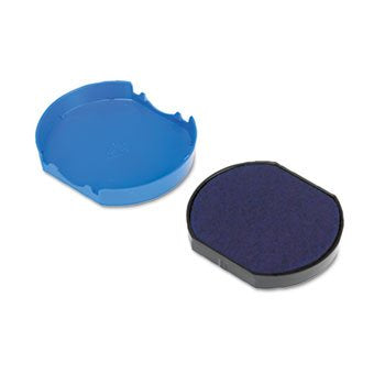 Trodat T46140 Dater Replacement Pad, 1 5/8, Blue