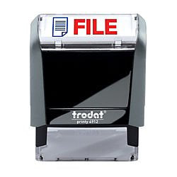 Trodat Printy 65% Recycled 4912 Self-Inking Message Stamp, File