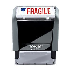 Trodat Printy 65% Recycled 4912 Self-Inking Message Stamp, Fragile