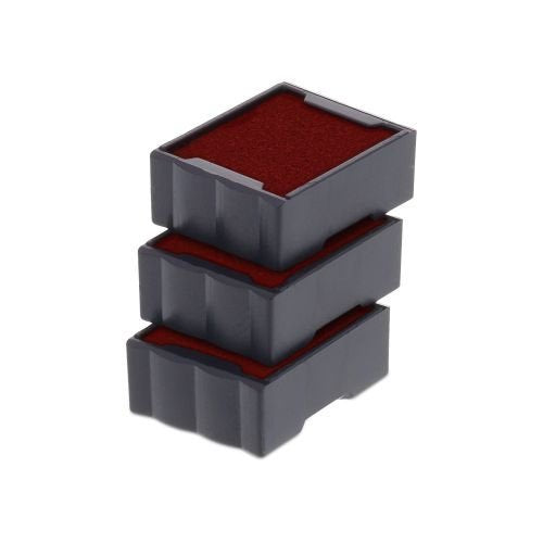 Trodat Replacement Ink Cartridge 6/4921 - pack of 3 Color red